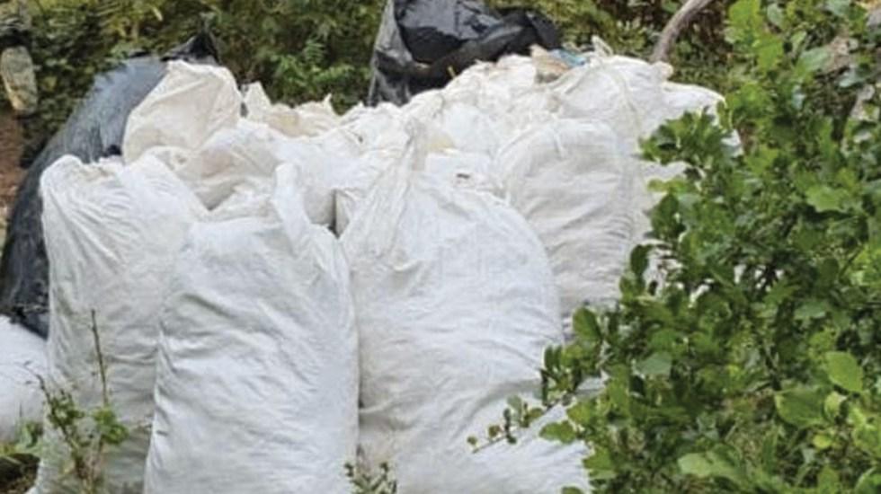 Decomisan 230 kilos de mariguana en Michoacán - Foto de @MICHOACANSSP