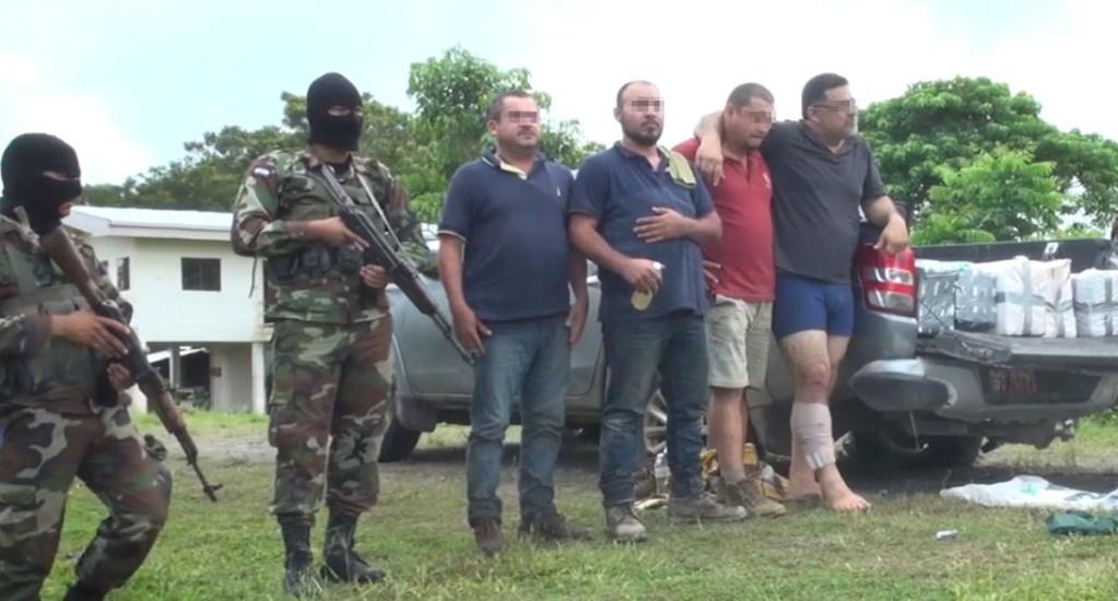 Mexicano muere en operativo antidrogas en Nicaragua - Detenidos en operativo antidrogas de Nicaragua. Captura de pantalla / EjércitoTv