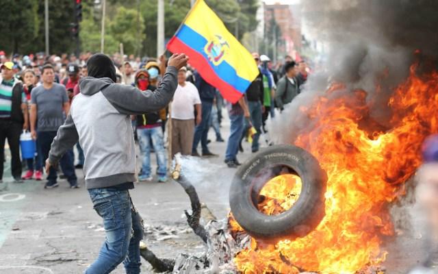 Tras protestas, imponen en Ecuador toque de queda parcial - Foto de EFE