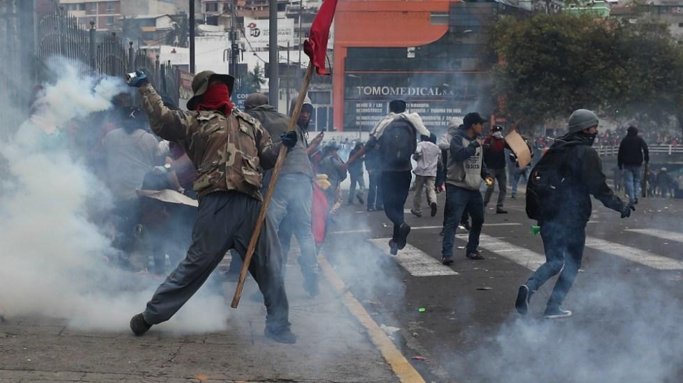 Sube a dos la cifra de muertos por las protestas contra gobierno en Ecuador - Foto de EFE
