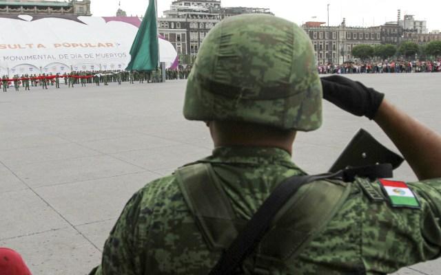 Lamenta titular de Sedena muerte en Tamaulipas de elemento de caballería - Foto de Notimex