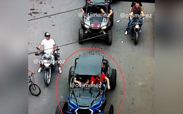 """Captan a """"El Lunares"""" en vehículos todo terreno en calles de Tepito - Cámaras de seguridad captaron a El Lunares"""