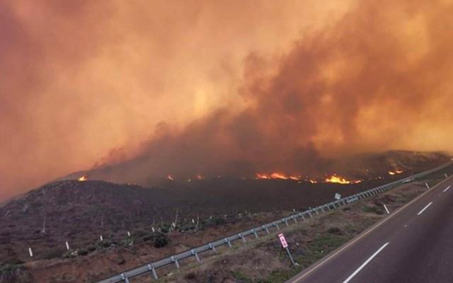 Suspenden clases en tres municipios de Baja California por incendios - Incendios forestales en Baja California