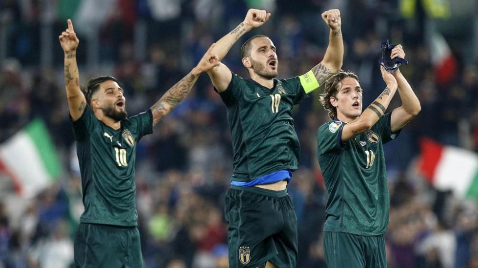 Italia vence 2-0 a Grecia y logró boleto a Euro 2020 - Foto de EFE