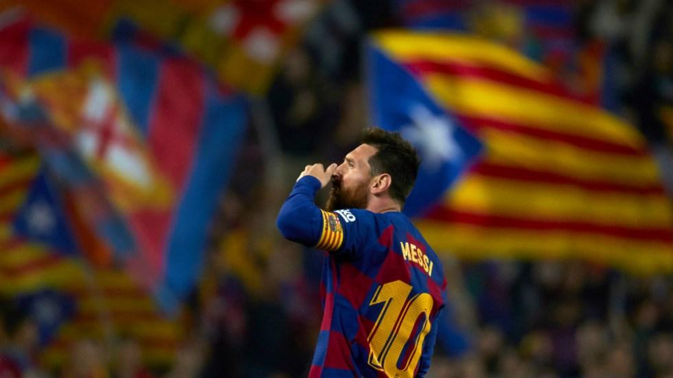Lionel Messi muestra el camino del liderato a Barcelona - Lionel Messi