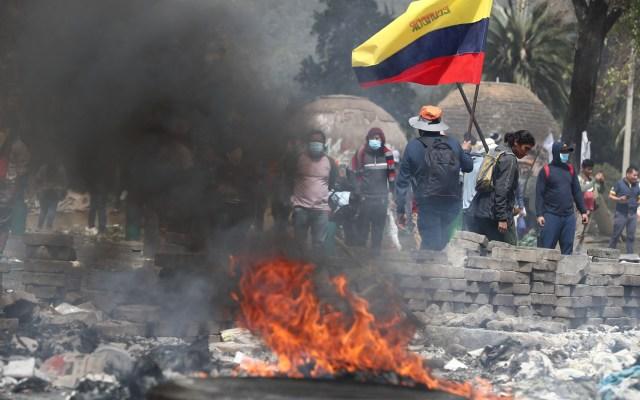 En total 131 periodistas fueron agredidos en 11 días de protestas en Ecuador - Manifestación en Ecuador. Foto de EFE