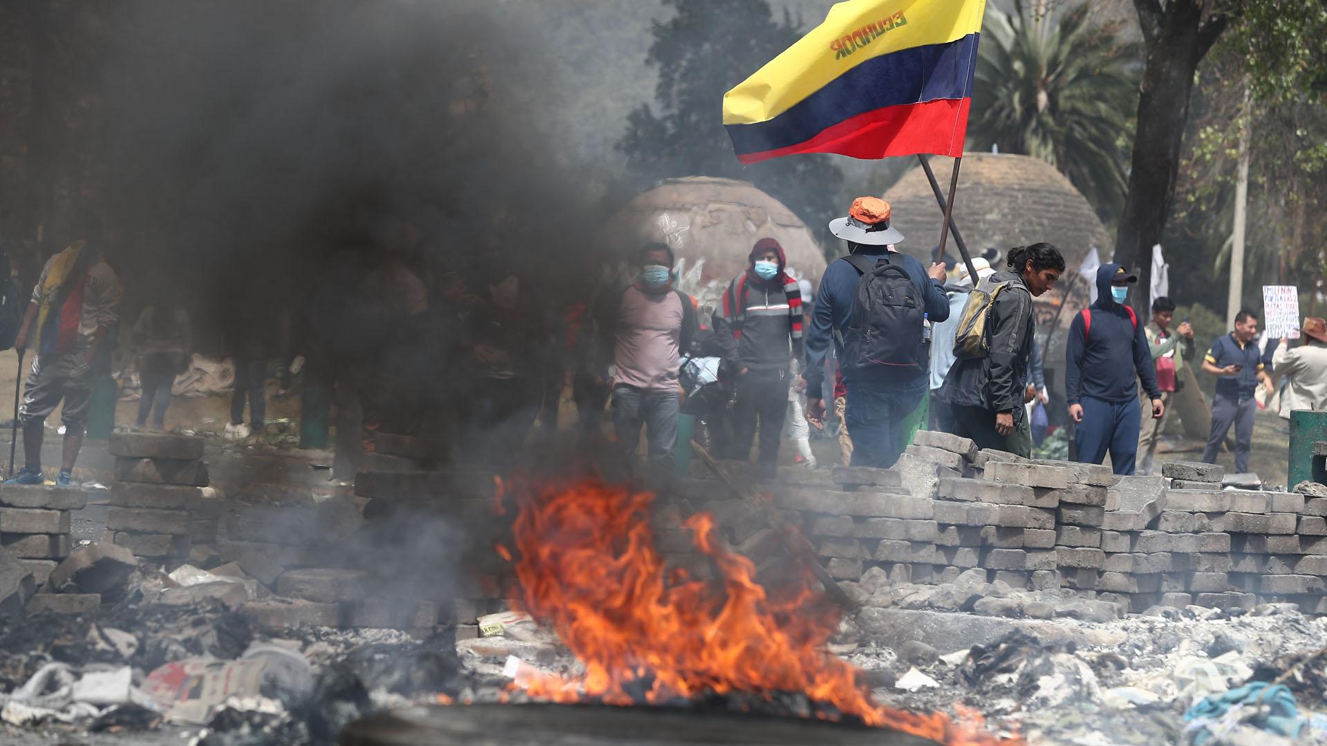 Manifestación en Ecuador. Foto de EFE