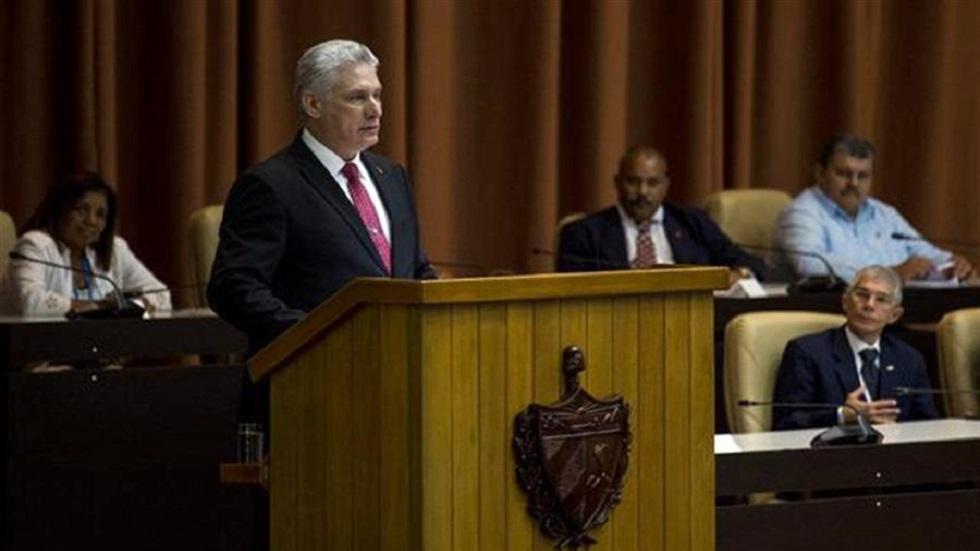 Justicia Cuba anuncia investigación al presidente Miguel Díaz-Canel - Miguel Díaz-Canel. Foto de EFE