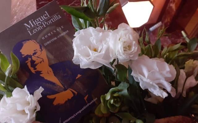 Homenaje a Miguel León-Portilla - El homenaje a Miguel León-Portilla. Foto de @INAHmx