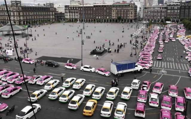 Alertan a capitalinos por marcha de taxistas el lunes 7 de octubre - Foto de @monteror32