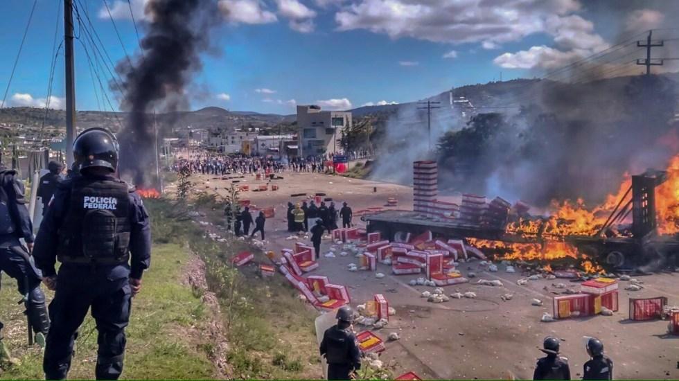 Vinculan a proceso a ex mandos policiales por caso Nochixtlán - Enfrentamiento en Nochixtlán