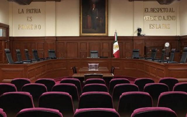SCJN elimina prohibición de transparentar información de seguridad pública - Pleno de la Suprema Corte de Justicia de la Nación. Foto de SCJN
