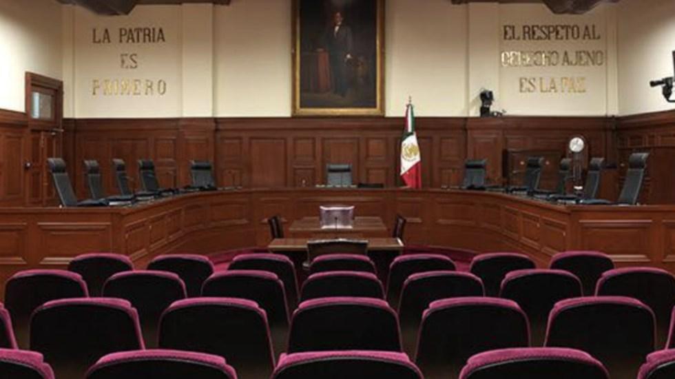 Acción Nacional pide que sustituto de Medina Mora sea una persona honesta - Pleno de la Suprema Corte de Justicia de la Nación. Foto de SCJN