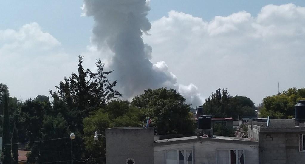 Explosión de polvorín en San Pedro Zumpango deja al menos dos muertos - Foto de Twitter