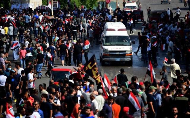 Suman 21 muertos y casi mil 800 heridos tras protestas en Irak - protestas irak