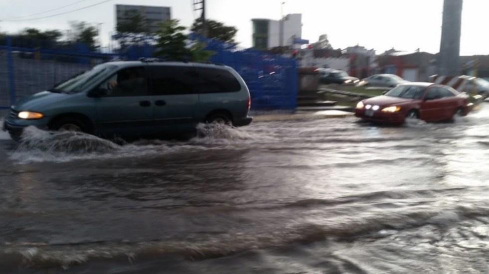 Lluvia provoca severos encharcamientos en San Juan del Río - Foto de Rotativo