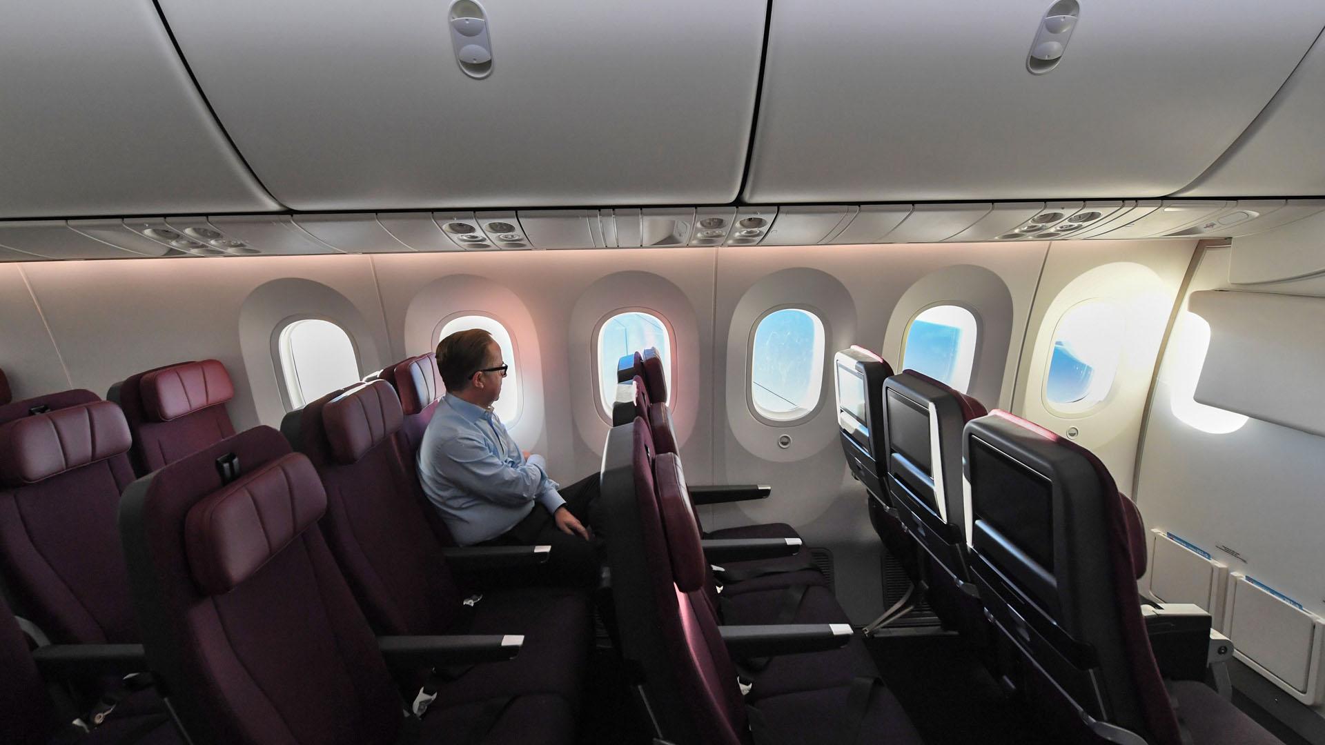 Seis de los 49 pasajeros eran voluntarios para analizar el impacto en la salud de pasar tanto tiempo en un vuelo. Foto de EFE
