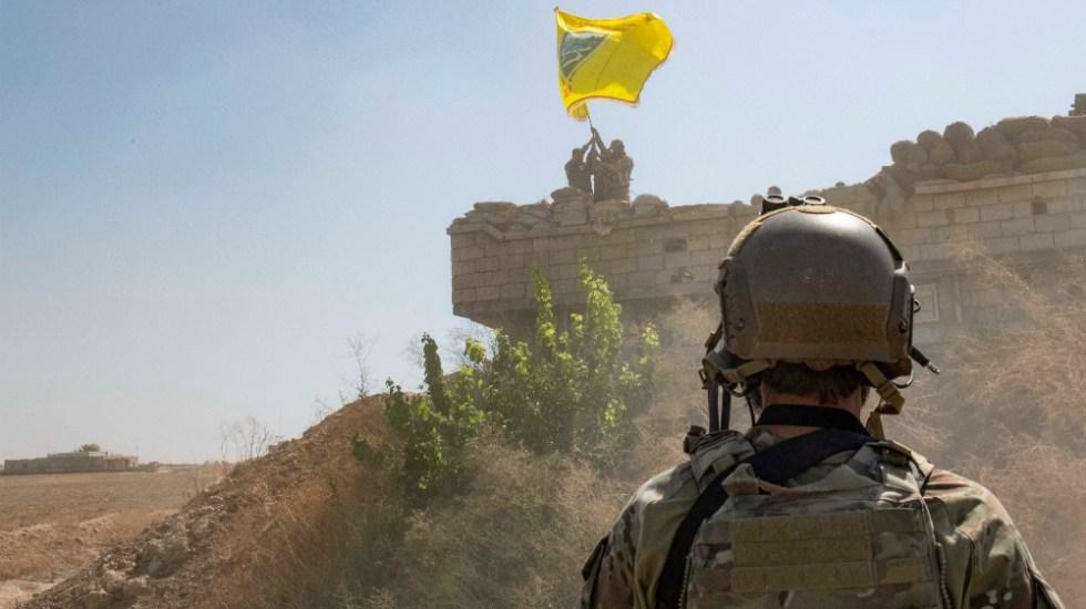 EE.UU. asume custodia de 40 combatientes del Estado Islámico - Soldado estadounidense. Foto de EFE