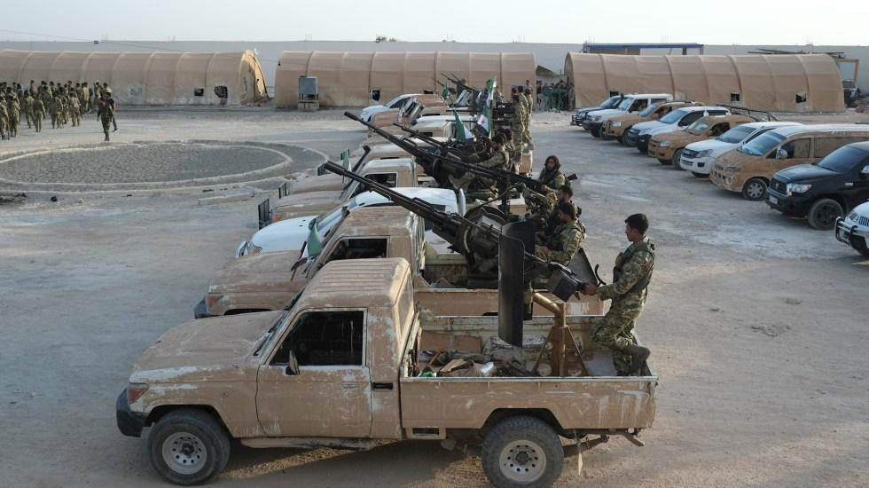 Erdogan anuncia el inicio de ofensiva militar contra kurdos en Siria - Foto de EFE/EPA/STR.