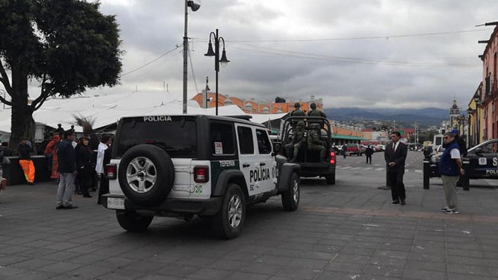 Unidades de la GN en la alcaldía Xochimilco. Foto de @XochimilcoAl