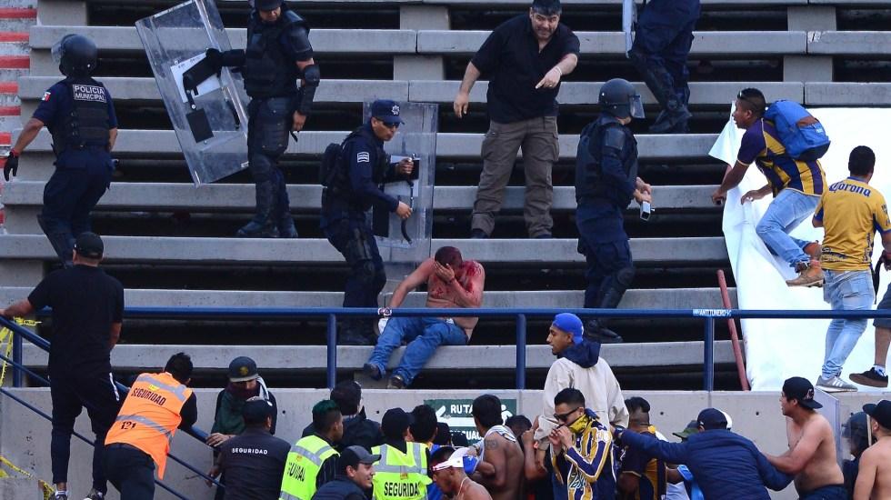 """Liga MX """"reprocha y reprueba"""" violencia durante San Luis vs. Querétaro; pide investigación a fondo - Foto de Mexsport."""