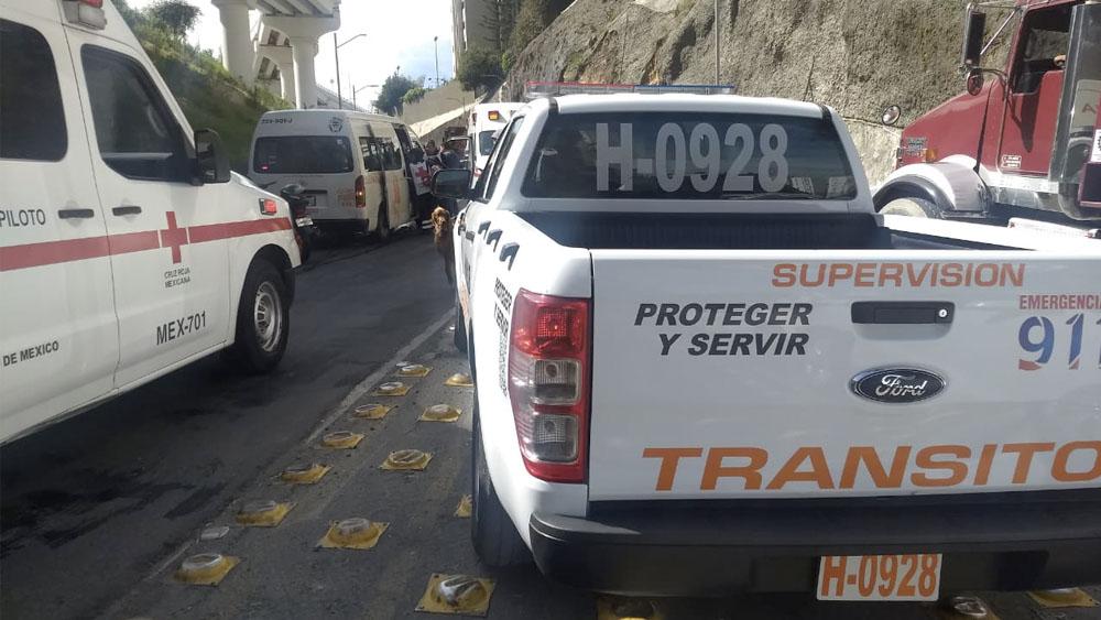 Choque deja 13 heridos en Huixquilucan - Choque deja 13 heridos en Huixquilucan
