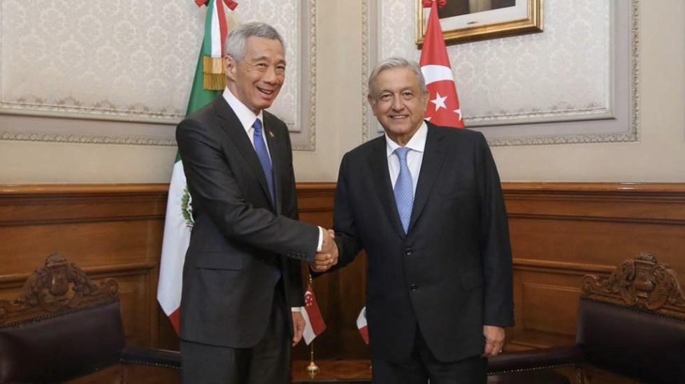 López Obrador acuerda fortalecer relaciones económicas con Singapur - AMLO Andrés Manuel López Obrador Singapur primer ministro