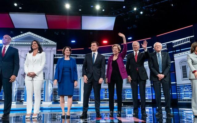 Aspirantes demócratas respaldan juicio político contra Trump - Aspirantes a la candidatura demócrata por la Presidencia de EE.UU. Foto de The Washington Post