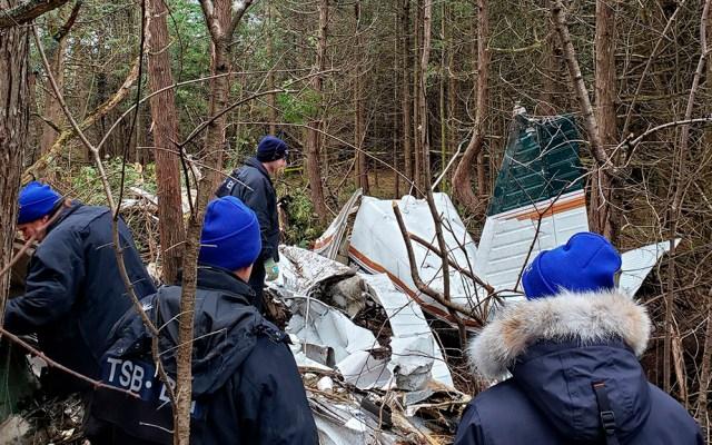 Avión se estrella en Ontario y deja múltiples víctimas mortales - Avión pequeño que se estrelló en Ontario, Canadá. Foto de @TSBCanada
