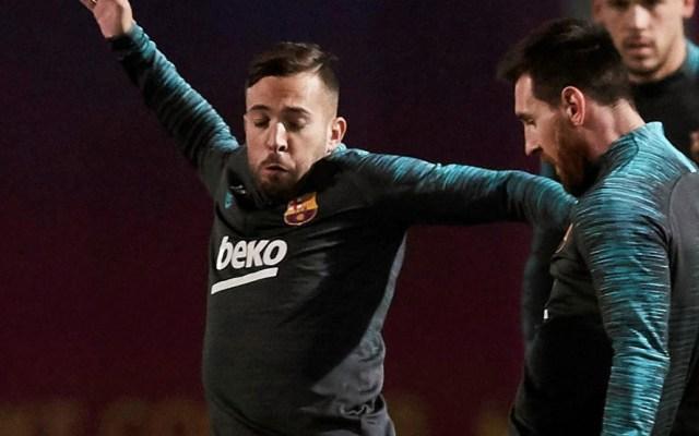 Jordi Alba será baja indefinida del Barcelona tras lesión - Barcelona Jordi Alba Messi entrenamiento