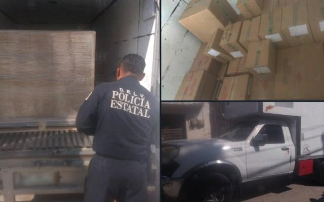 Localizan en Tultitlán camión abandonado con 500 mil pesos en medicinas - Recuperan camión cargado con medicinas