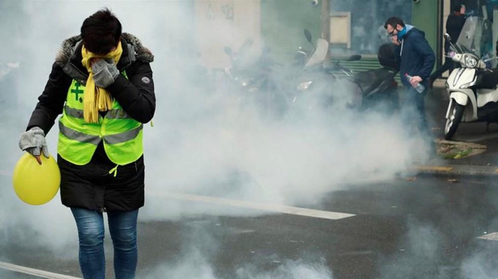 Actos de vandalismo en París durante protestas de chalecos amarillos - chalecos amarillos paris