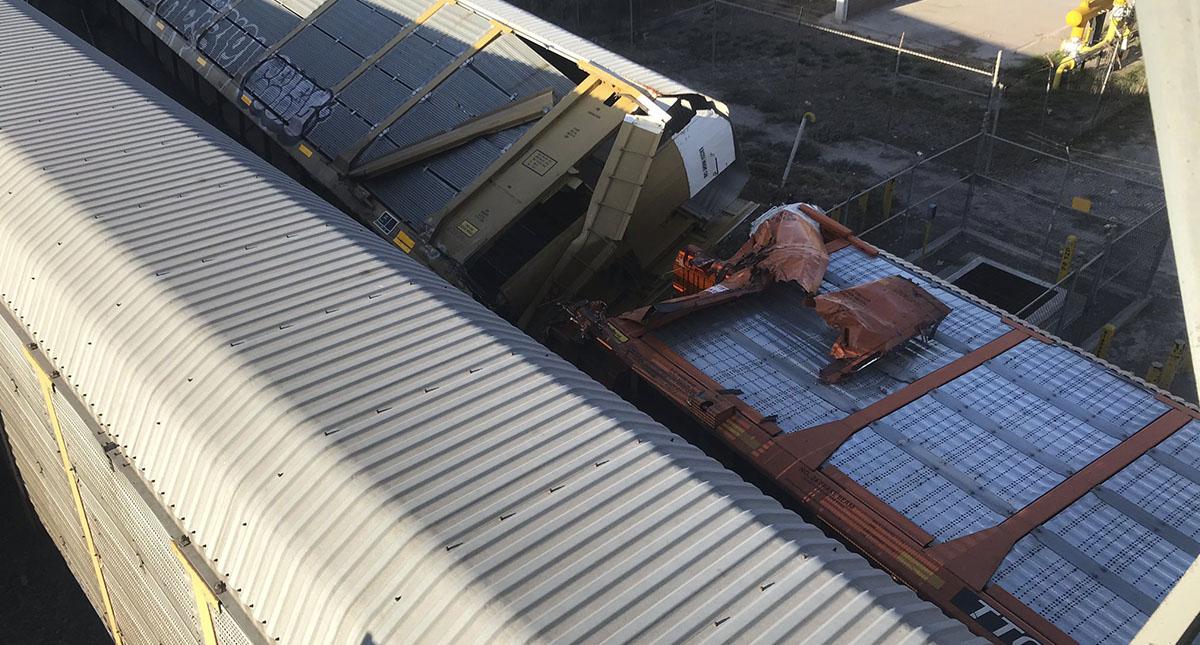 Choque de trenes en Coahuila. Foto de @jdanielsantiago