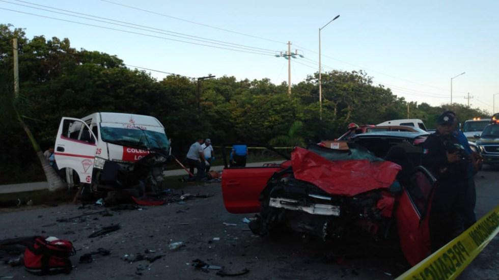 Choque deja una mujer muerta en carretera de Tulum - Choque en la carretera Tulum-Boca Paila. Foto de Noticaribe
