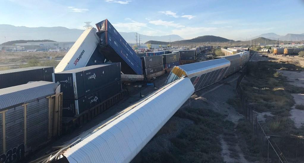 Chocan trenes en Ramos Arizpe, Coahuila; no hay lesionados - Descarrilamiento de ferrocarril en Ramos Arizpe. Foto de @jdanielsantiago