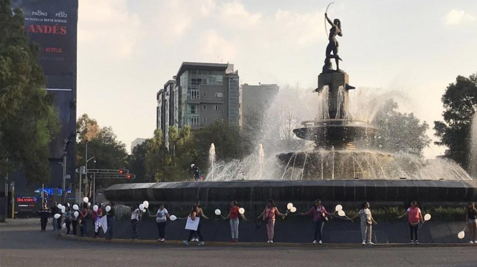 Rodean Diana Cazadora para crear conciencia de protección a monumentos - Foto de @SeleneOlveraNi1