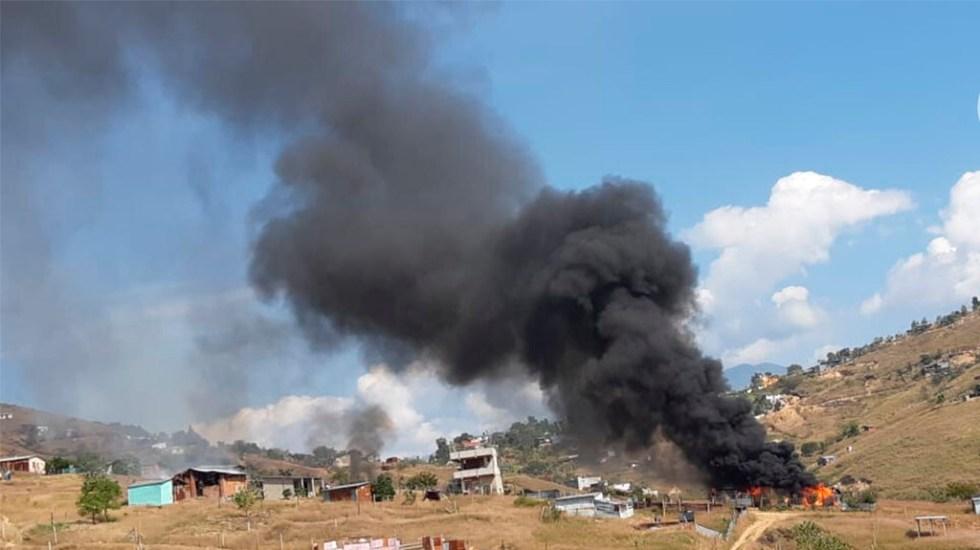 Enfrentamiento en Xoxocotlán, Oaxaca, deja al menos un muerto - Enfrentamiento en Xoxocotlán, Oaxaca. Foto de @planofocal10