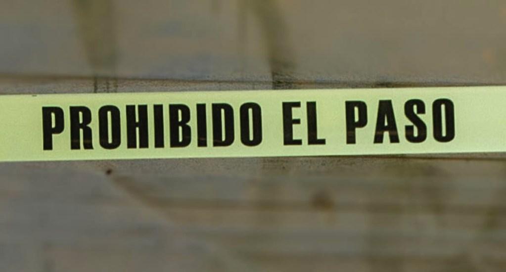 Hallan en calles de San Luis Potosí los cadáveres de cinco hombres - Cinta policial restos