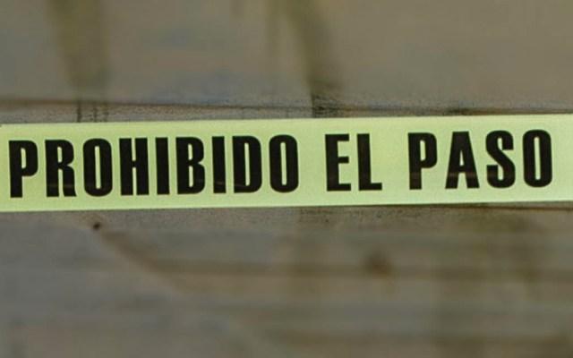 Sujeto asesina a su pareja con un tabique en Tecámac - Escena del crimen cinta precaución