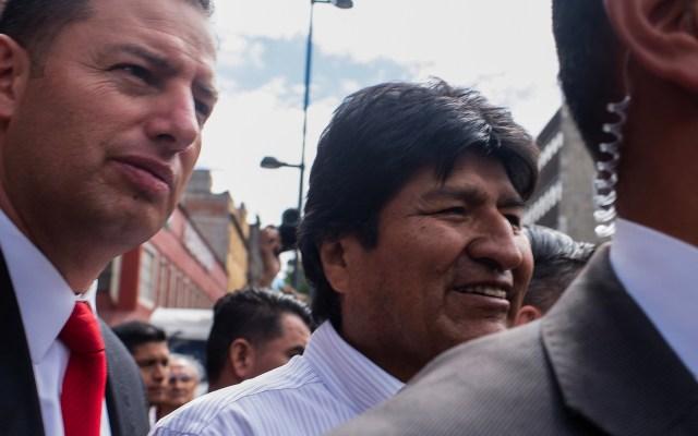 AMLO instruyó a la Sedena dar protección de Evo Morales - Salida del expresidente Evo Morales del Museo de la Ciudad de México donde ofreció conferencia de prensa a los medios nacionales e internacionales. Foto de Notimex-Gerardo Luna.