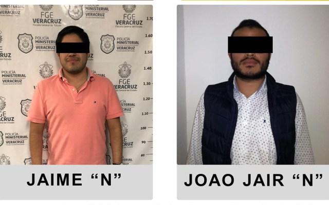 Fiscalía de Veracruz detiene a hijo de exsecretario de Seguridad de Yunes - Exfuncionarios de Veracruz detenidos. Foto de @FGE_Veracruz