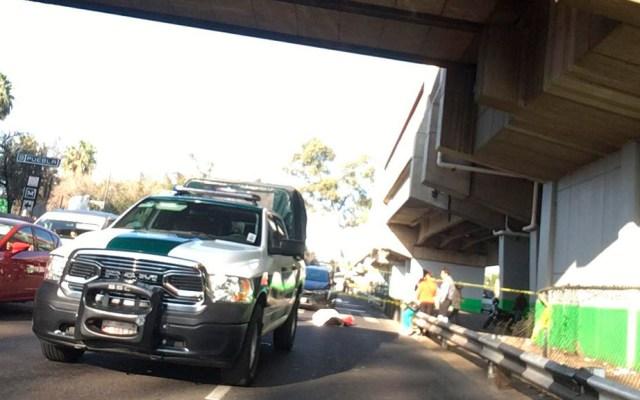 Muere hombre atropellado afuera del Metro Puebla - Hombre atropellado afuera de Metro Puebla. Foto de @OpEsMx