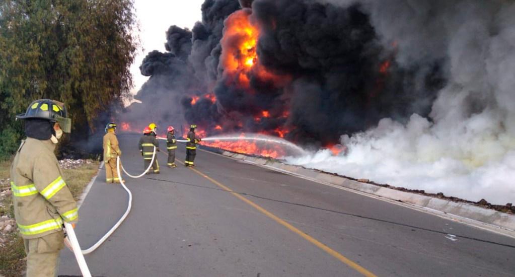 Desalojan a 200 personas por incendio en Tetepango, Hidalgo - Incendio en Tetepango, Hidalgo. Foto de @CNPC_MX