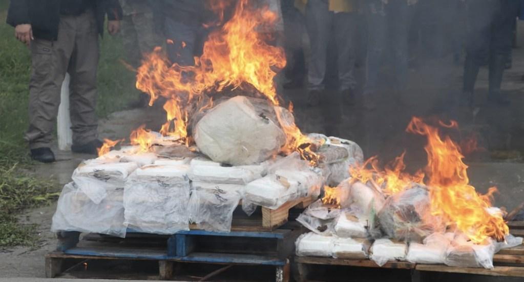 #Video Incineran más de 83 kilos de cocaína en Tabasco - Foto de FGR Tabasco