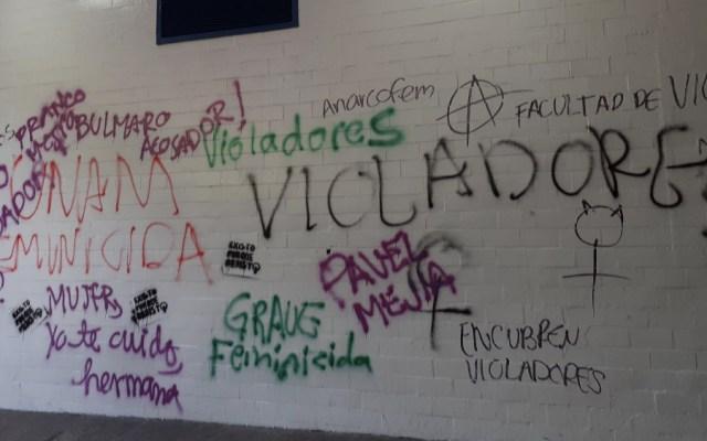 Disturbios en Ciudad Universitaria por marcha feminista - Foto de @wearegotseven