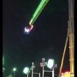 #Video Falla en juego mecánico deja a personas suspendidas en el aire