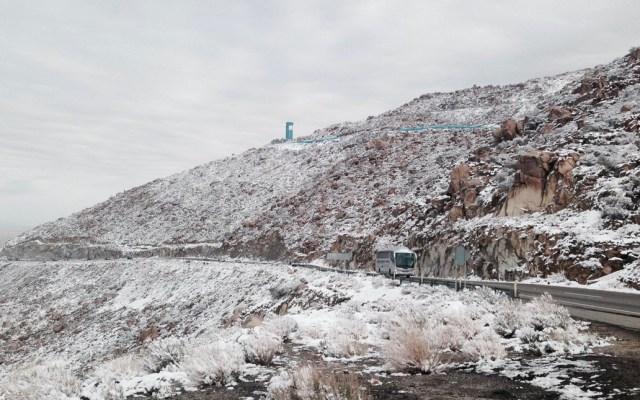 Autopista La Rumorosa-Tecatecontinúa cerrada por nevada - Autopista La Rumorosa-Tecate