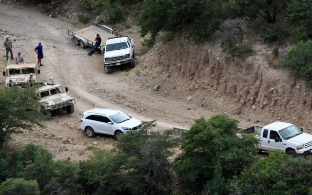 Detienen a tres implicados en ataque contra familia LeBarón; suman siete arrestos - Resguardan zona donde fue la masacre a la familia LeBarón. Foto de Notimex-Javier Lira.