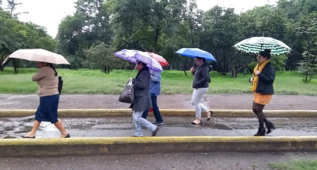 Activan Alerta Amarilla en la Ciudad de México por lluvia y viento fuerte - Lluvia en la Ciudad de México. Foto de LDD