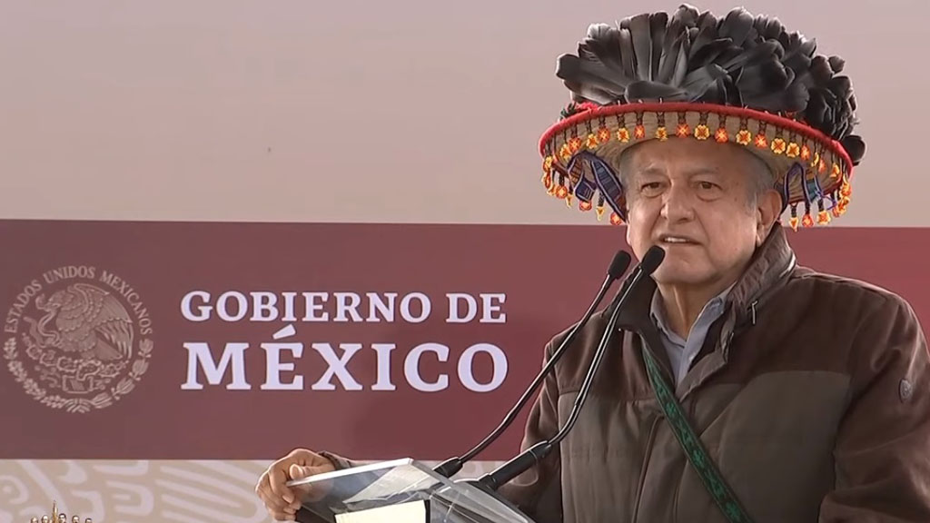 López Obrador pide a campesinos acostumbrarse a apoyos directos - López Obrador en Diálogo con el Pueblo Wixárika de Jalisco. Captura de pantalla